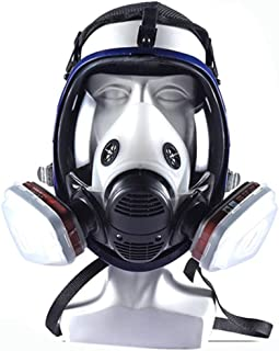17in 1 Reusable full face Cover,Full Face Respirator Widely Used in Organic Gas,Paint..