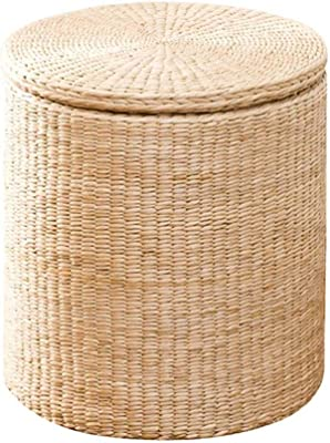 Tremendous Amazon Com Round Wicker Ottoman All Weather Woven Ottomans Onthecornerstone Fun Painted Chair Ideas Images Onthecornerstoneorg