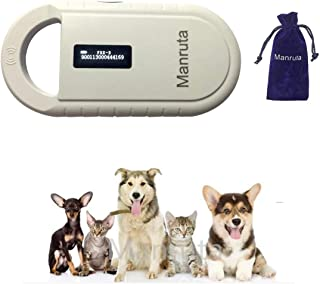 Rechargeable 134.2khz Animal ID Microchip Scanner FDX-B ISO 11784/11785 RFID Small Handheld Reader