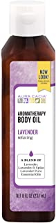 Aura Cacia Relaxing Lavender Aromatherapy Body Oil   GC/MS Tested for Purity   237ml (8 fl. oz.)