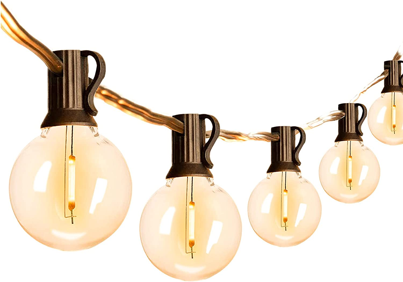 VMANOO Outdoor String Lights 25Ft Globe G40 67% OFF of fixed price Award Lighting B LED Patio