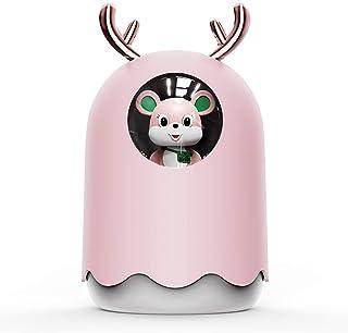 Decdeal Mini luchtbevochtiger 300 ml USB Air Luchtbevochtiger Ultra Stille Luchtbevochtiger met kleurrijk nachtlampje, aut...