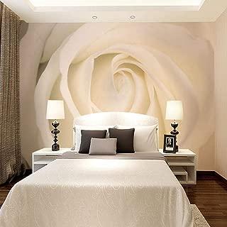 Fotomurales Estilo moderno 3D estéreo simple rosa blanca Papel pintado tejido no tejido, Fotomurales Decoración hogareña Para sala de estar tv bar fondo pared 400x280 cm