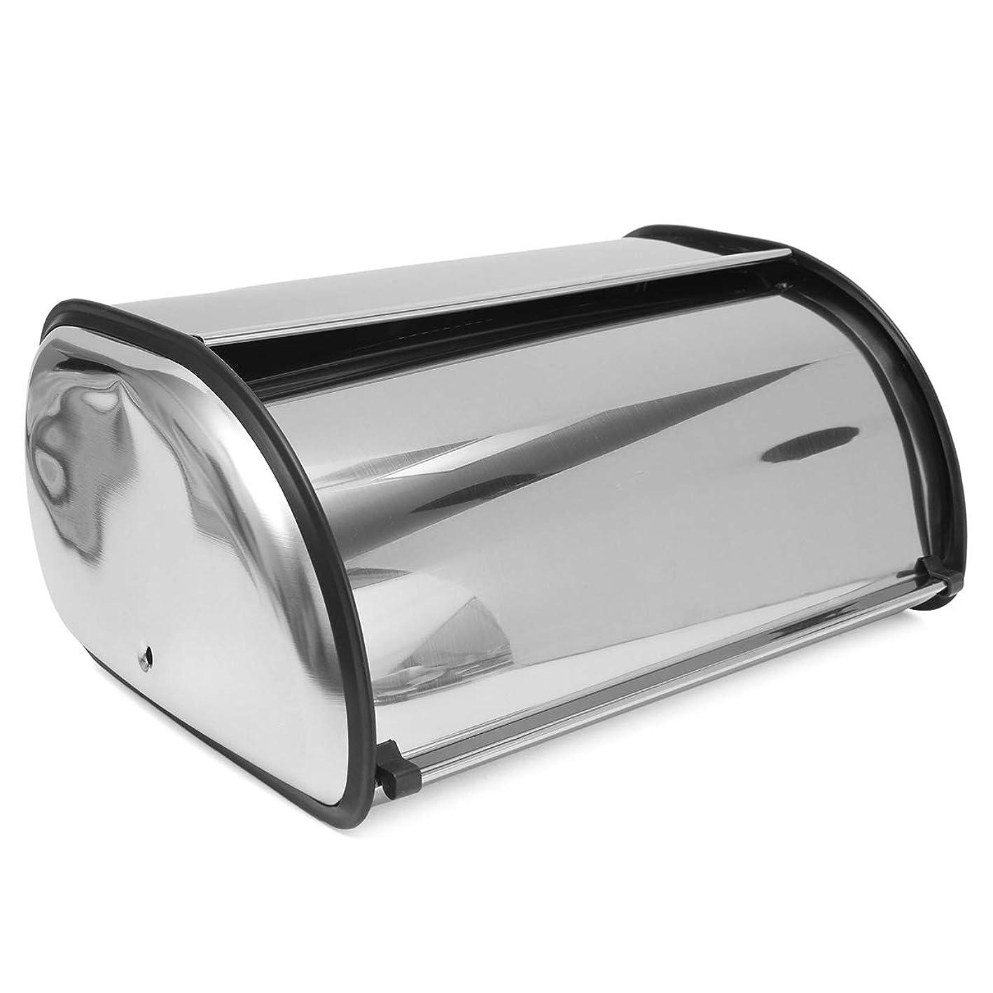 設計釈義居住者Queenwind 34 ×21× 14.5 cm ステンレススチールパンボックス収納ビンキーパーフードキッチンコンテナ