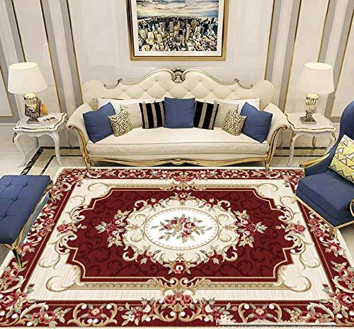 Tappeti per Soggiorno in lussuosi tappeti da Camera da Letto e tappeti Classici turchi per Studio Tappeto da Tavolo Centrale, 80 * 160 cm (2.62 * 5.25) ft Rosso
