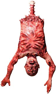 legendary-Yes Halloween Decor Zombie Ghoul Torso - Props Body Bloody Skinned Hanging Corpse with Bloody Muscles & Guts Prop Decorations Scary Halloween Decoration for Halloween Party
