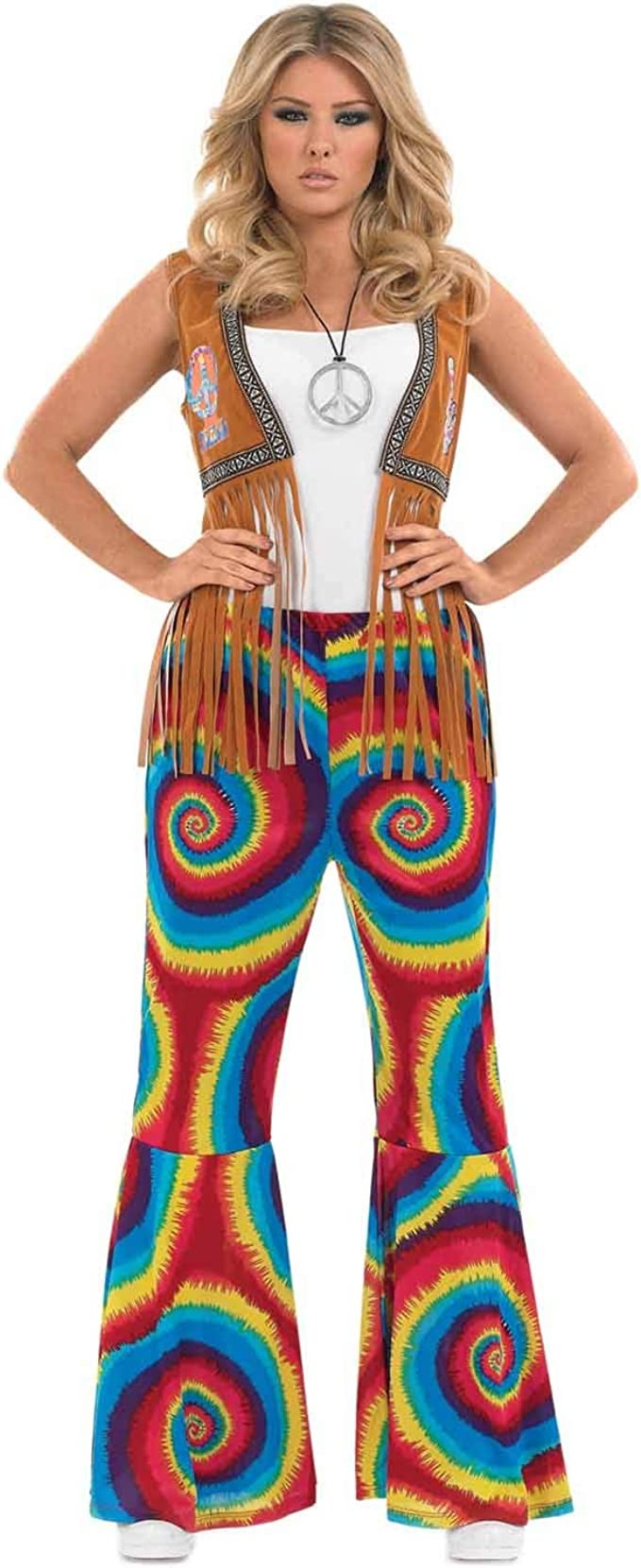 60s Pants, Jeans, Hippie, Flares, Jumpsuits fun shack Bell Bottom Costume Pants for Women 70s Hippie Flare Pants for Women Available in Sizes Small Medium Large XL XXL  AT vintagedancer.com