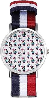 Mickey Mouse Minnie reloj de ocio para adultos, moderno, hermoso y personalizado aleación Shell Casual Sports reloj de pul...