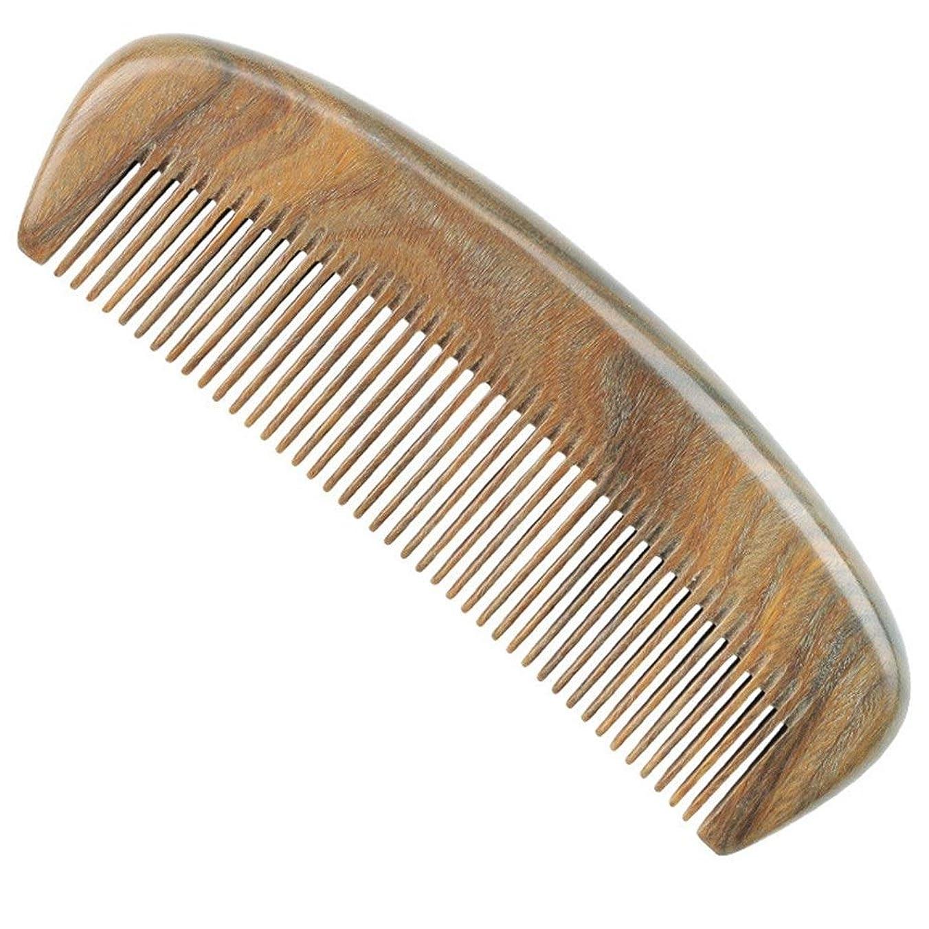 独占どこスクリューGuomao グリーンビャクダンの櫛小さな半月密な歯の櫛子供の櫛グリーンビャクダンの櫛 (Size : 12.5*4 cm)