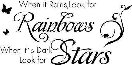 """""""Cuando llueve, busca los arcoíris, cuando está oscuro, busca las estrellas"""". Cita calcomanía de pared cita inspiradora pe..."""