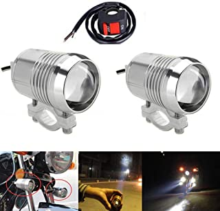 GOODKSSOP 2PCS Super Bright CREE U2 30W LED Spotlight Headlight Work Light Driving Fog Spot Lamp Universal for All Motorcycle ATV Truck With 1pcs ON/OFF Button Switch