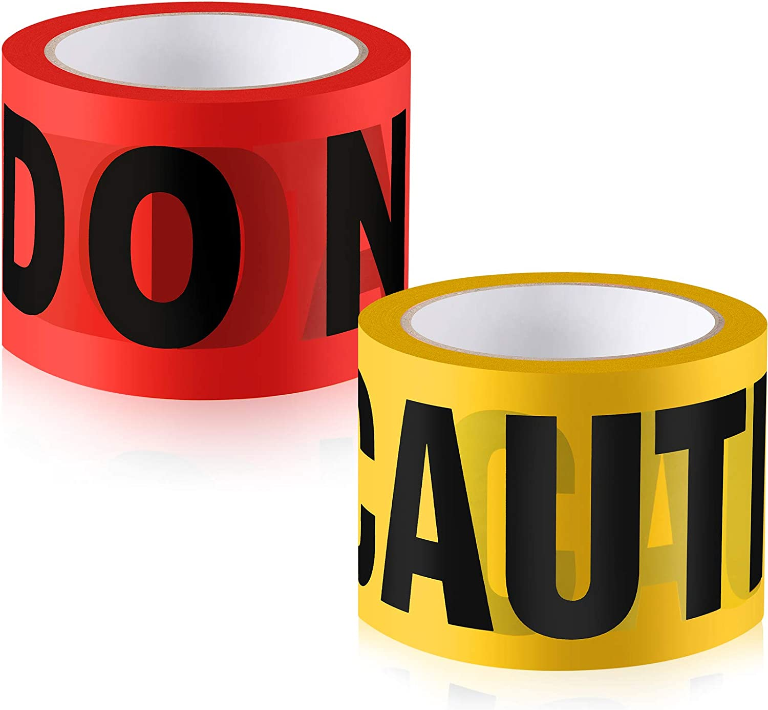 2 Roll Halloween Warning Caution Tapes Red Danger Do Not Enter a