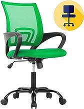 Office Chair Desk Chair Mesh Computer Chair with Lumbar Support Armrest Ergonomic Chair for Women Adult, Green