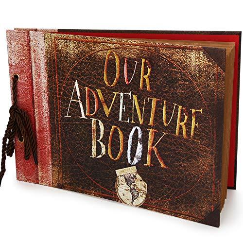 Vienrose Our Adventure Book Álbum de Fotos Libro de Recuerdos Bricolaje Álbum de Recortes Hecho A Mano Libro de Recuerdos para Dia de San Valentin Boda Cumpleaños Aniversario Navidad