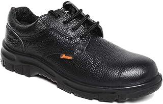 Paragon Men's Black Protective Shoes (Size-07 UK, Color : Black)