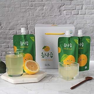Korean Yuza Citron Juice [ Korean Foods ] Vitamin C, B, Calcium, No GMO or Gluten, Vegan Friendly Yuja, Resealable Pouch [ JRND Foods ] 12 Bags