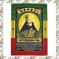 【drs】ラスタ レゲエ ライオン エチオピア Haile Selassie I Flag 97cm x 69cm フラッグ 旗