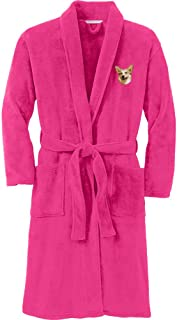 Cherrybrook Pink Raspberry Dog Breed Embroidered Plush Microfleece Robes (All Breeds)