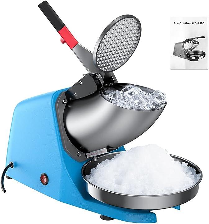 Tritaghiaccio elettrico 350w macchina per il ghiaccio a doppia lama in acciaio inox anbull B08VS86373