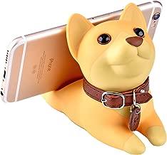 Cute Dog Desk Cell Phone Stand Holder Cute Cartoon Dog Smartphone Holder Bracket Ornament for Office Living Room Bedroom Eco-Friendly PVC,Shiba Inu