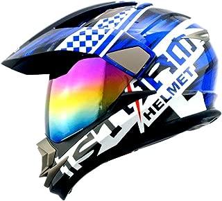Dual Sport Helmet Motorcycle Full Face Motocross Off Road Bike Storm Blue