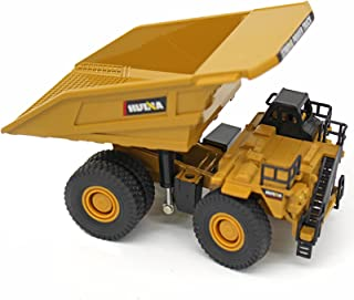 1/60 Scale Alloy Dump Truck Model Heavy Duty Construction Site Vehicle Toys, Dumper Collectible Alloy Model Engineering To...