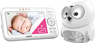 VTech BM5100-OWL Video and Audio Baby Monitor, White,