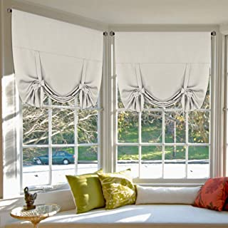 Blackout Energy Efficient Tie Up Shades Home Decor Rod Pocket Panels for Small Window..