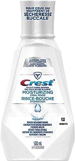 Crest Moisturizing Anticavity Flouride Mouthwash, Repairs Weakened Enamel, 500 ml 2-PACK