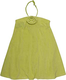Girls Essential Strapless (Tie Optional) Terry Coverup Dress Green Large (12/14)