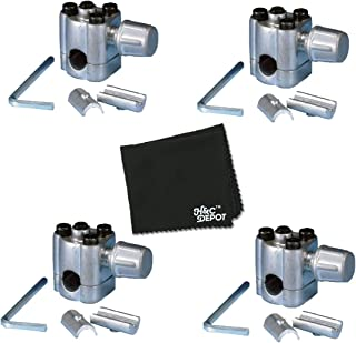4 Pack - Supco BPV31 Bullet Piercing Valve Refrigeration Lines - Includes Gentle Cleaning Cloth