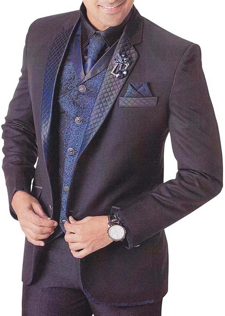 INMONARCH Mens Purple Wine 7 Pc Tuxedo Suit Classic Designer TX0722
