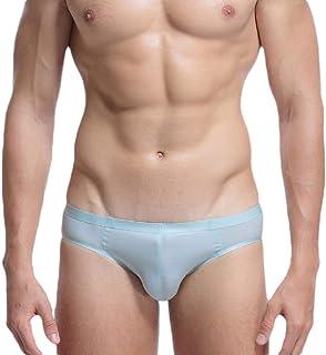 Men's Triangle Ice Silk Low Waist Breathable Briefs