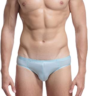 Mens Comfort Ice Silk Low Waist Breathable Briefs