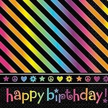 Luncheon Napkins   Neon Collection   Birthday