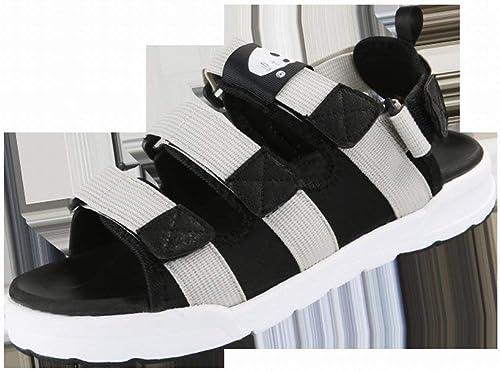 Fuxitoggo Mode Klett Sandalen Komfortable Atmungsaktive Sandalen Frisch Allgleiches Herrenhausschuhe (Farbe   Schwarz Größe   42)