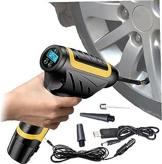 Draadloze luchtpomp voor autobanden Handbediende band Inflator 2200mAh luchtcompressor elektrische banden inflator voor au...