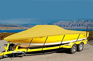 CRV-SBU 7 oz Solution Dyed Polyester Material Custom Exact FIT Boat Cover Sunbird Corsair 198 Cuddy 1993