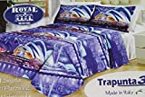 Russo Tessuti Trapunta Piumone Matrimoniale Royal House Stampa 3D SINDEY Azzurro Blu