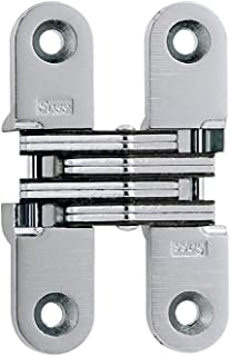SOSS 208US26D Mortise Mount Invisible Hinge with 4 Holes, Zinc, Satin Chrome Finish, 2-3/4
