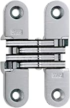 SOSS 204CUS15 204 Zinc Invisible Hinge with Holes for Wood or Metal Applications Satin Nickel Exterior Finish Pack of 2 Mortise Mounting