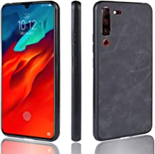 CHENCHUAN Case Cover Shockproof Sheep Skin PC + PU + TPU Case for Lenovo Z6 Pro(Black) Mobile Phone Shell (Color : Black)