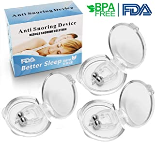 Snoring Solution, Anti Snoring Devices Silicone Magnetic Anti Snore Clip Snore Stopper Nose Clip Stop Snoring Device- 3 Packs