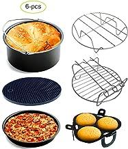 Air Fryer Accessories Set of 6 Fit all 3.7Qt, 5.3Qt, 5.8Qt Air Fryer Nonstick Coating,BPA Free,Dishwasher Safe(7Inch)
