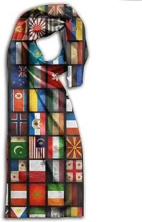 World Flag Map Adults Winter Warm Scarf Fashion Scarves Shawl Gift