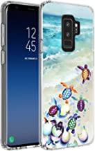 Slim Watercolor Sea Turtle Samsung Galaxy S9 Plus Phone Case Soft Flexible TPU Rubber Silicone Design Protector Clear Skin for Samsung Galaxy S9 Plus