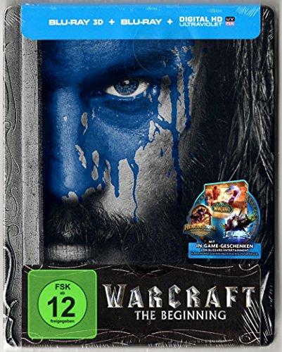 Warcraft: The Beginning 3D (Limited Steelbook Edition) (Blu-ray 3D + Blu-ray + UV Copy) (Cover A - Mensch) Media Markt + Saturn Exklusiv, Uncut, Regionfree