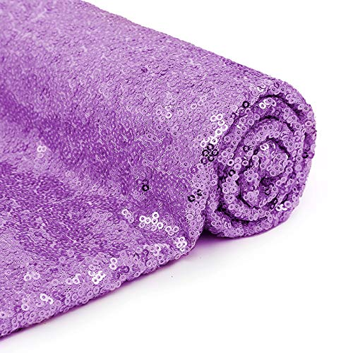 Lavender Sequin Fabric by The Yard Handmade Sequin Backdrop Tablecloth Bow Table Runner Aisle Runner Xmas Tree Christmas Decorations