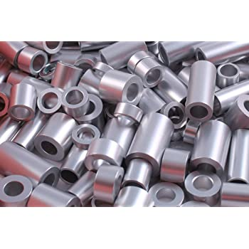 Pack of 10 1//2 OD 0.192 ID 1//4 Length Round Spacer 1//2 OD Small Parts 500410RSA #10 Screw Size Aluminum 1//4 Length 0.192 ID Plain Finish Pack of 10
