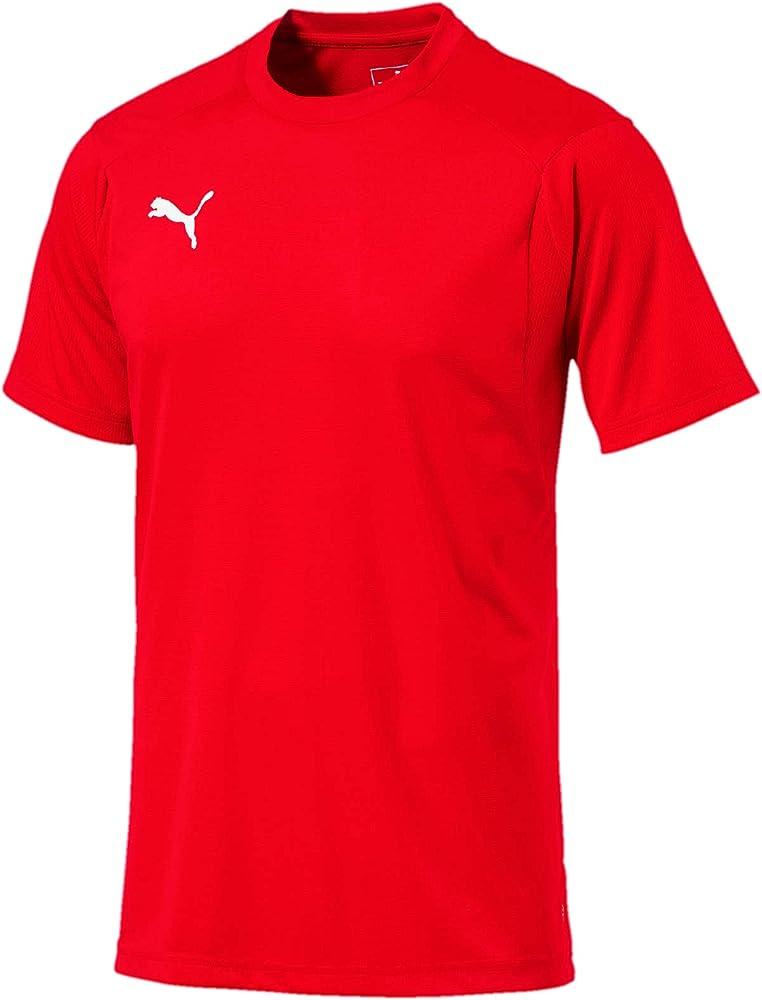 Puma liga training jersey, maglietta per uomo,100% poliestere 655308